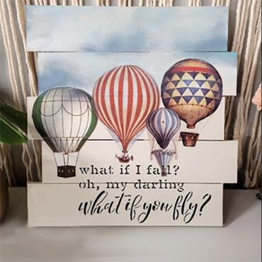 Hot Air Balloon Pallet Sign