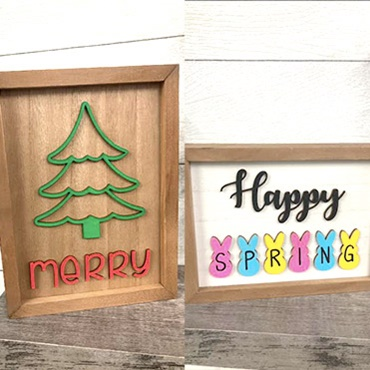 Double Sided 3D Sign