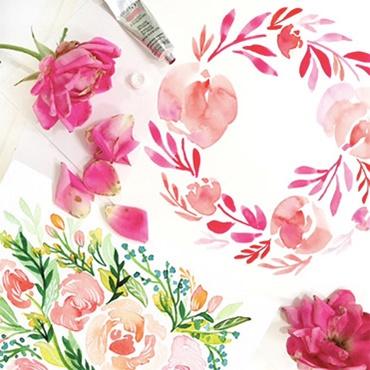 Modern Watercolor Florals