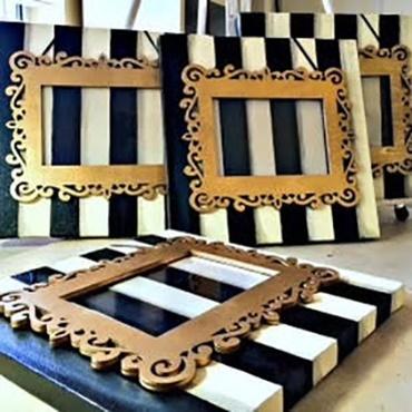 Designer Inspired Black & White Canvas Frame